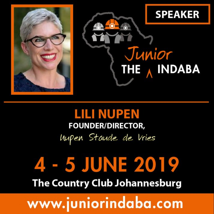 Lili Nupen to speak at Junior Indaba
